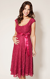 Eliza Maternity Dress Short Wild Rose