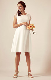 Eleanor Maternity Wedding Dress Ivory