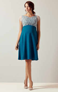 Eleanor Maternity Dress Kingfisher