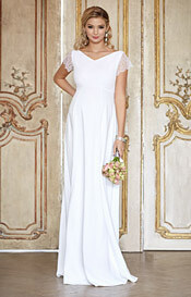 Eleanor Maternity Wedding Gown (Ivory White)