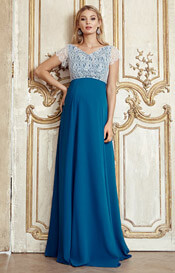 Eleanor Maternity Gown Kingfisher