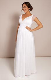 Elodie Maternity Gown White Snow
