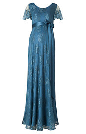 Elsa Maternity Gown Long Lagoon Blue