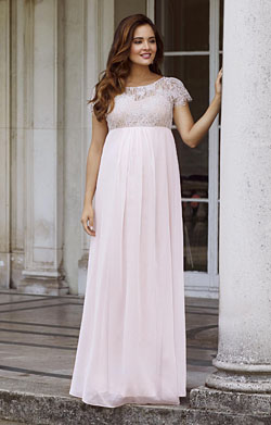Elizabeth Maternity Gown Soft Mist Pink
