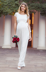 Emma Maternity Wedding Gown Long Ivory