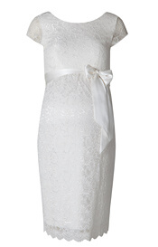 Emma Maternity Shift Dress Ivory