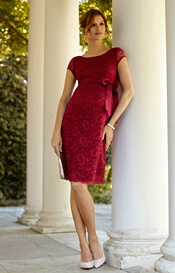 Emma Maternity Shift Dress Scarlet