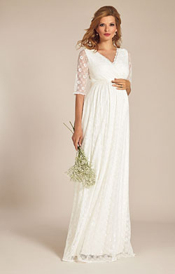 Enya Maternity Wedding Gown Long Ivory White