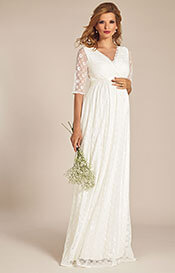 Enya Maternity Wedding Gown Long Ivory