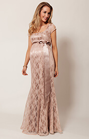 Eva Lace Maternity Gown (Antique Rose)