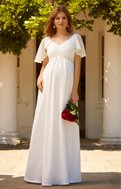 Everly Maternity Wedding Gown Ivory