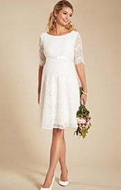 Faye Maternity Wedding Dress Ivory