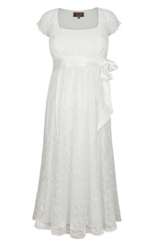 Florence Maternity Wedding Dress Short Ivory