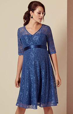 Flossie Maternity Dress Short Riviera Blue