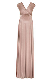 Robe de Grossesse Maxi Francesca Blush