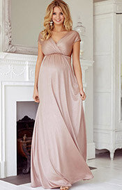 Francesca Maternity Maxi Dress Blush