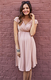Francesca Maternity Dress in Blush