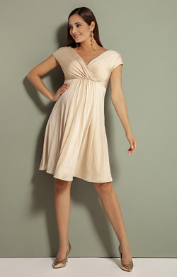 Francesca Maternity Dress Champagne