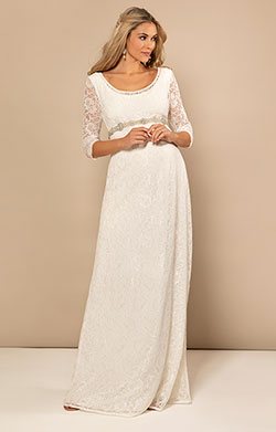 Freya Maternity Wedding Gown (Ivory)
