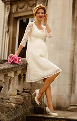 Freya Maternity Wedding Dress (Ivory)