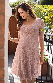 Freya Maternity Dress Short Orchid Blush