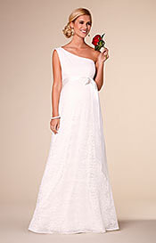 Gia Maternity Wedding Lace Gown Ivory