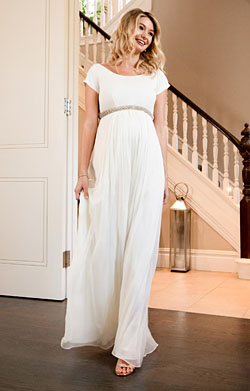 Greta Maternity Wedding Gown Long Ivory