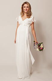 Hannah Maternity Wedding Gown Long Ivory
