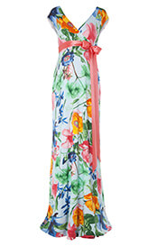 Alana Maxi Maternity Dress Hawaiian Breeze