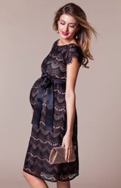 Harriet Maternity Dress Short Black/Dusk