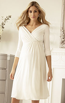 Isabella Maternity Wedding Dress (Ivory)