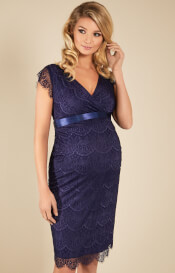 Imogen Maternity Shift Dress Dusky Blue