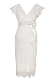 Imogen Maternity Wedding Shift Dress Ivory
