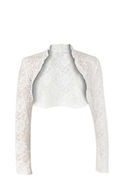 Italia Bolero (Ivory) Long Sleeves