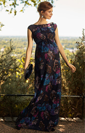 Jasmine Maternity Gown Long Midnight Flower