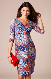Josephine Maternity Dress Moroccan Print