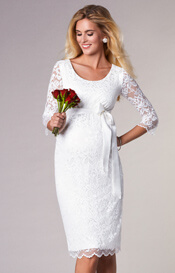 Katie Maternity Wedding Dress Short Ivory