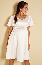 Keira Satin Crepe Maternity Wedding Dress in Ivory
