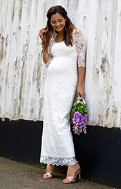 Katie Maternity Wedding Gown Long Ivory