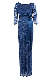 Katie Maternity Gown Long Windsor Blue