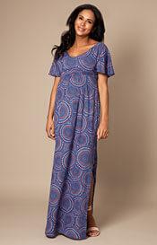 44292c867155 Kimono Maternity Maxi Dress Aztec Print