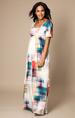 Kimono Maxi Maternity Dress Colour Palette