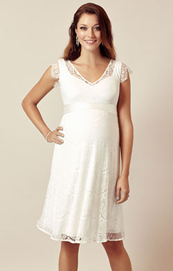Kristin Maternity Wedding Dress Ivory White