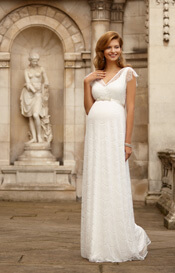 Kristin Maternity Wedding Gown Long Ivory