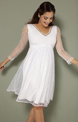 Lily Maternity Wedding Dress Short White Snow
