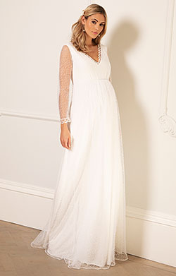 Lily Maternity Wedding Gown