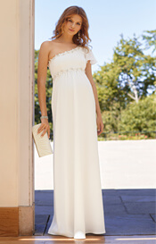 Lisbeth Maternity Wedding Gown Ivory