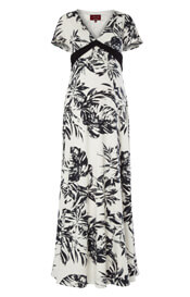 Lizzy Maternity Maxi Dress Monochrome Forest