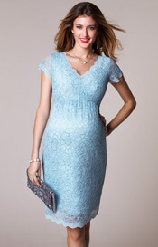 Laura Maternity Lace Dress Eau de Nil