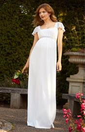 Lorelei Beaded Maternity Wedding Gown Ivory